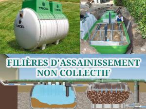 filières d'assainissement autonome non collectif